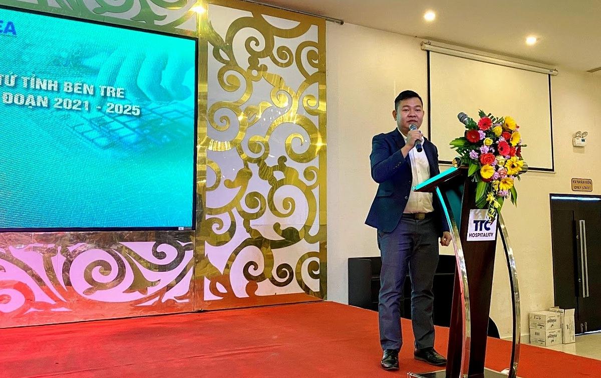 Ông Leon Trương - Chủ tịch Liên minh DTS chia sẻ tại sự kiện.