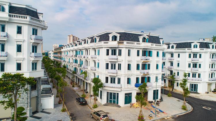 Sơn Sherwin Williams được sử dụng cho toàn bộ liền kề, shophouse Kiến Hưng Luxury