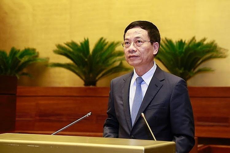 Bộ trưởng Thông tin & Truyền thông Nguyễn Mạnh Hùng. Ảnh: Ngọc Thắng.