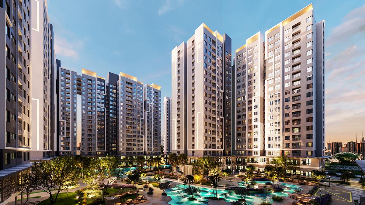 Thiết kế các căn hộ đa dạng diện tích, đáp ứng nhu cầu của mọi gia đình.