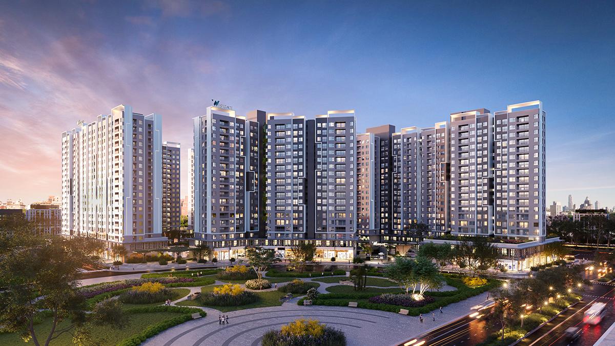 Tọa lạc ở vị trí trung tâm dự án, tháp Mekong sở hữu ba hướng nhìn đắt giá