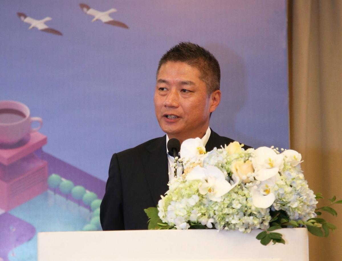 Ông Nishitohge Yasuo - Tổng giám đốc AEON Việt Nam chia sẻ trong buổi họp báo khai trương AEON Hải Phòng Lê Chân. Ảnh: AEON Việt Nam.