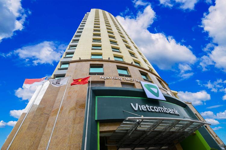 Tòa nhà trụ sở Vietcombank.