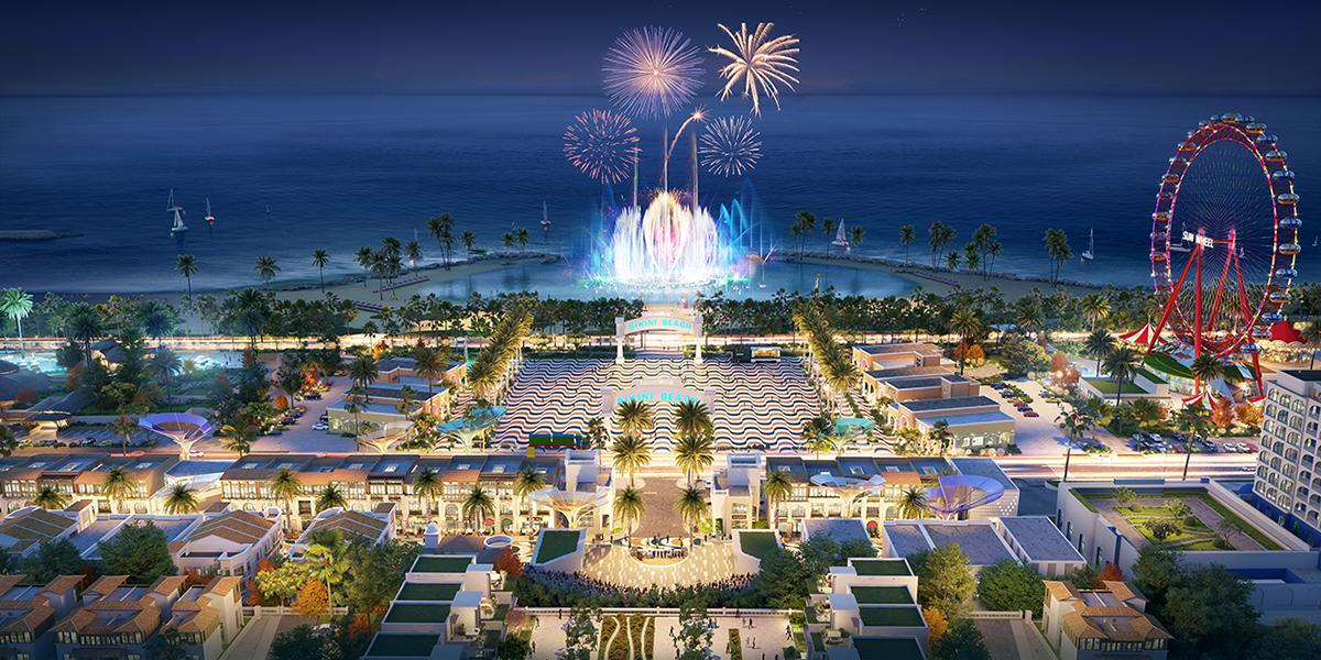 Phối cảnh khu Main Center dự án NovaWorld Phan Thiet. Ảnh phối cảnh: Novaland.