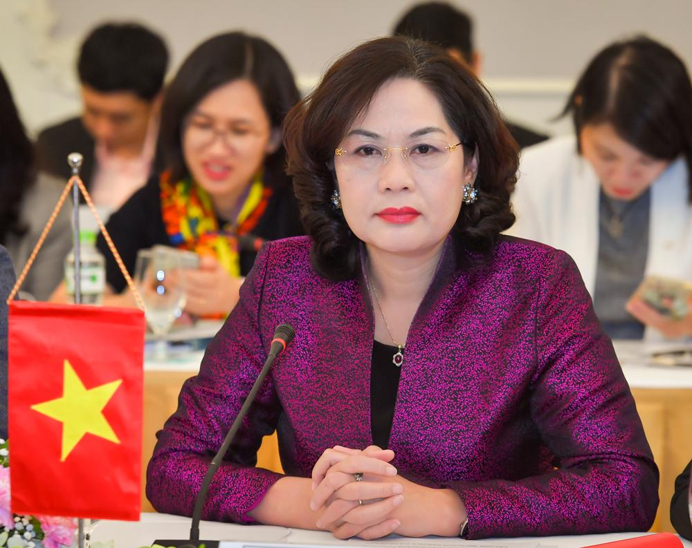 Bà Nguyễn Thị Hồng, Nữ thống đốc Ngân hàng Nhà nước đầu tiên. Ảnh: SBV.