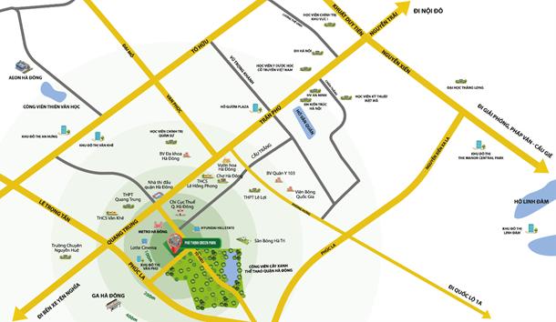Dự án sở hữu vị trí vàng trong khu vực phát triển đồng bộ nhất Hà Đông.