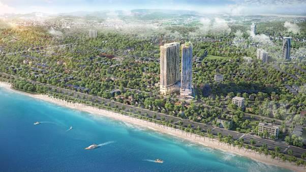 Phối cảnh dự án The Ruby Hạ Long tọa lạc tại phường Cao Xanh - trung tâm mới của TP Hạ Long.