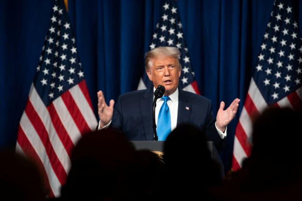 Tổng thống Mỹ Donald Trump trong một sự kiện hồi tháng 8 tại Mỹ. Ảnh: Reuters