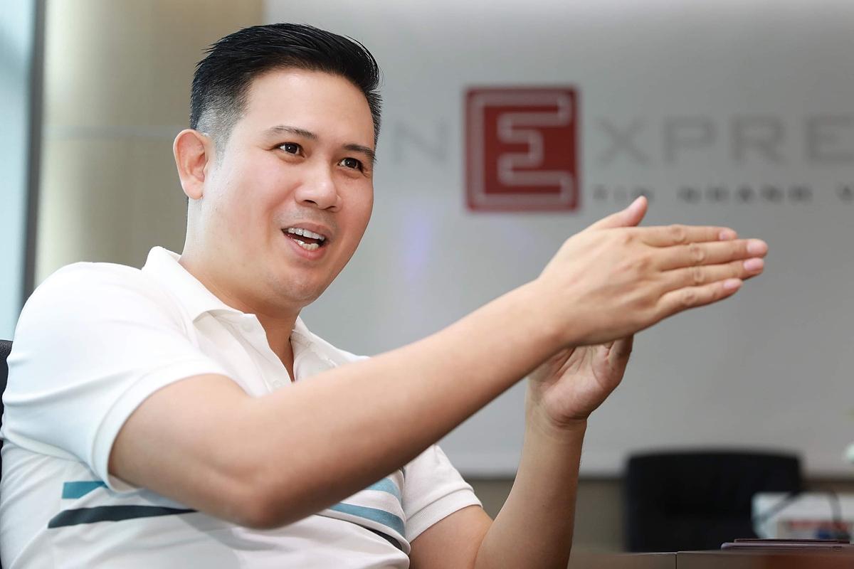Chủ tịch Winsan, Phạm Văn Tam kỳ vọng truyền cảm hứng khởi nghiệp và ý chí không ngại thất bại cho giới trẻ. Ảnh: Hữu Khoa.
