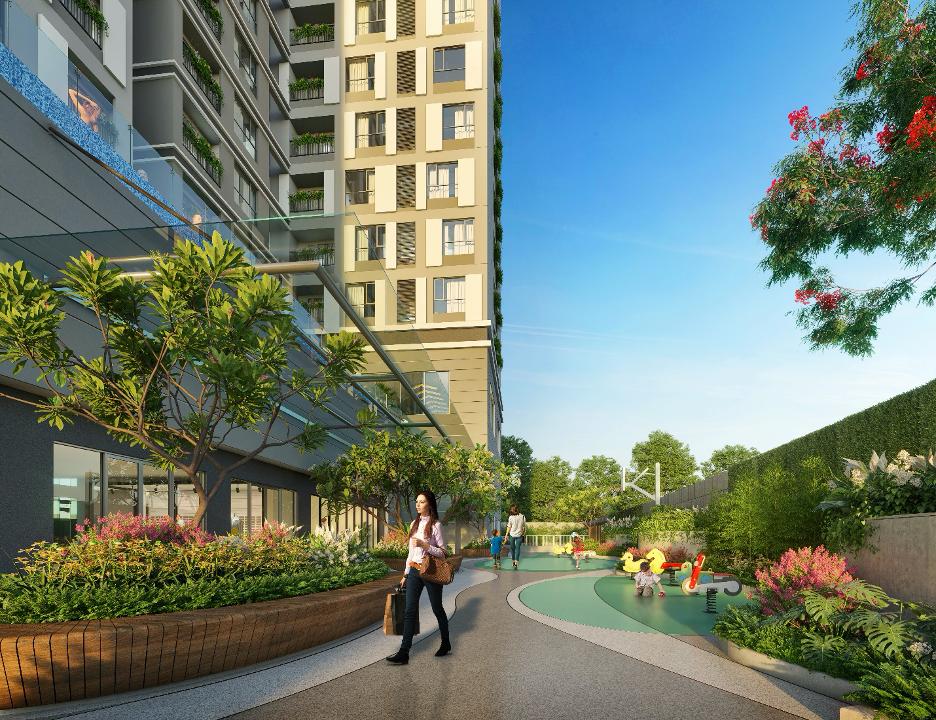 Mảng xanh ngay tầm mắt tại căn hộ Happy One – Premier.