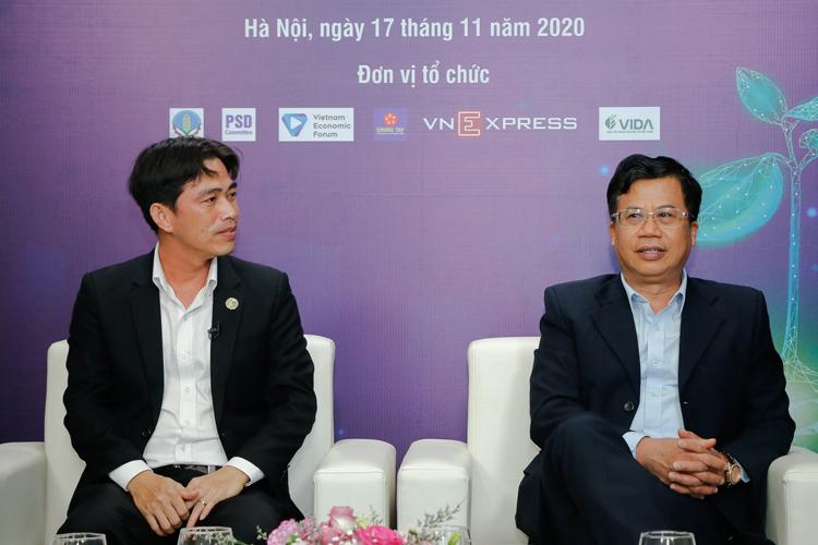 Ông Nguyễn Công Cẩn và ông Tống Xuân Chinh.