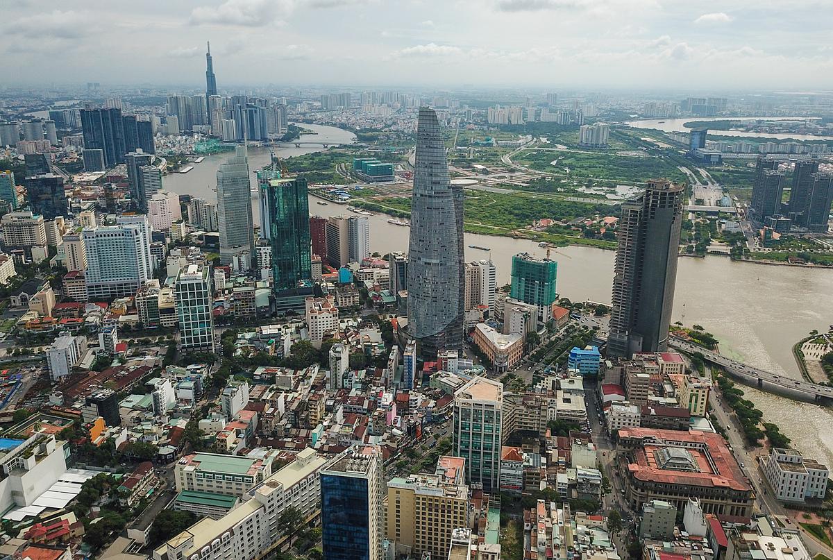 Khu trung tâm TP HCM tại quận 1. Ảnh: Quỳnh Trần.