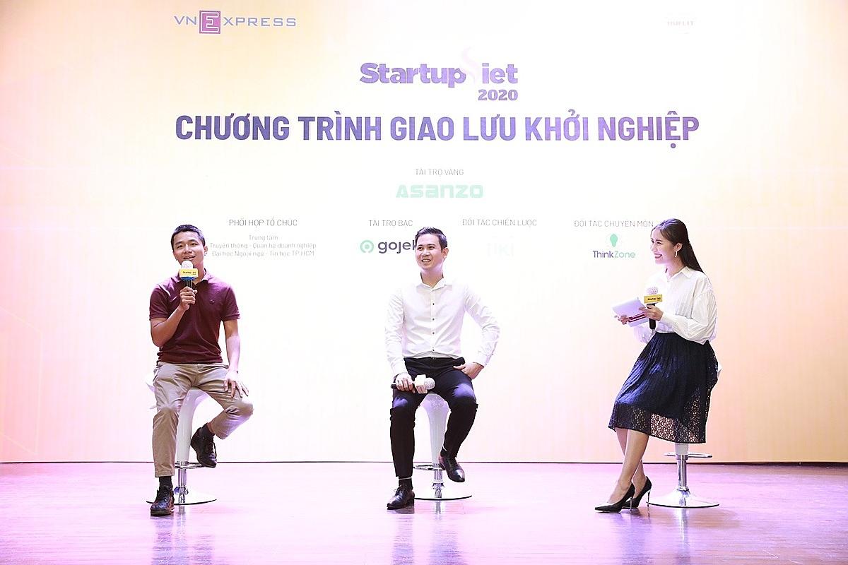 Chương trình giao lưu khởi nghiệp diễn ra trong khuôn khổ Startup Việt 2020 do VnExpress tổ chức. Ảnh: Hữu Khoa.