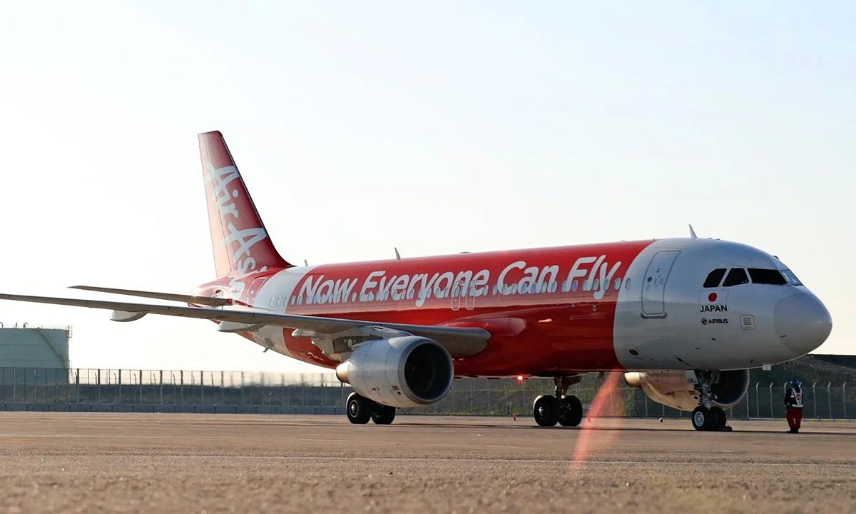 Một trong ba máy bay đi thuê của AirAsia Nhật Bản. Ảnh:AirAsia Japan