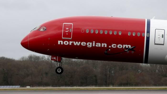 Một máy bay của Norwegian Air. Ảnh: Bloomberg