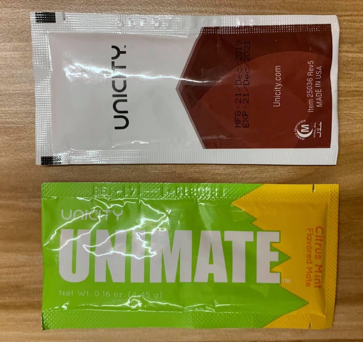 Hai sản phẩm Unimate và Bios life E của Unicity.
