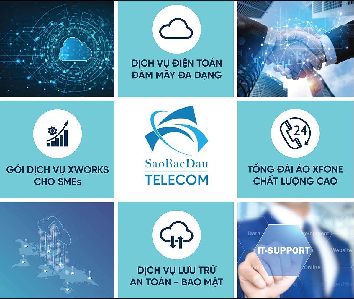 Các dịch vụ của Sao Bắc Đẩu Telecom đảm bảo an ninh công nghệ, an toàn dữ liệu, tính bảo mật cao. Ảnh: Ảnh: SBD Telecom.