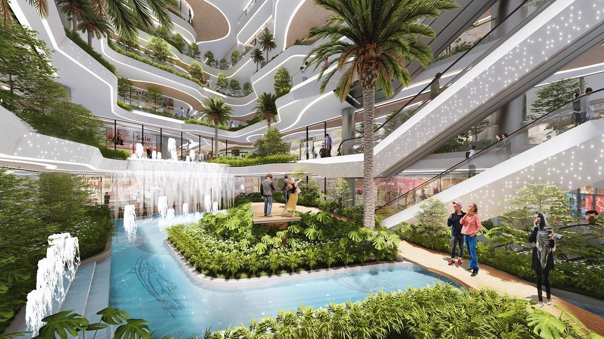 Dự án kết hợp hài hòa giữa không gian xanh và tiện ích hiện đại, phong phú. Ảnh phối cảnh: BCG Land.