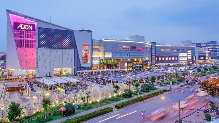 Đại siêu thị Aeon Mail tại Bình Dương.