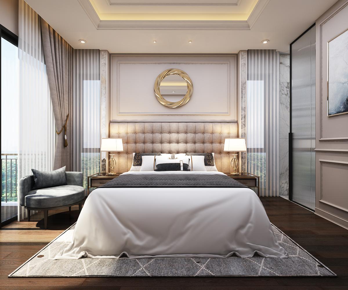 Các không gian phòng ngủ đều rất rộng rải được thiết kế phù hợp với từng đối tượng sử dụng nhưng vẫn trong một tổng thể hài hòa thống nhất.