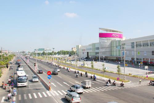 Siêu thị Aeon Mall tại Thuận An, Bình Dương.