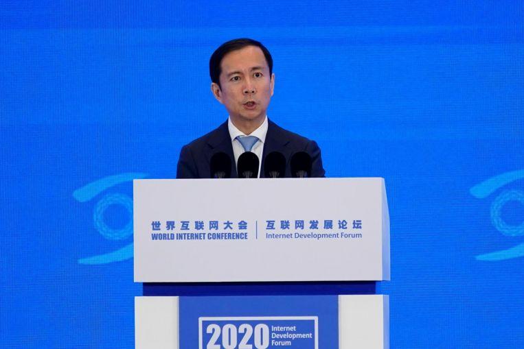 CEO Alibaba Daniel Zhang tại sự kiện hôm nay. Ảnh: Reuters