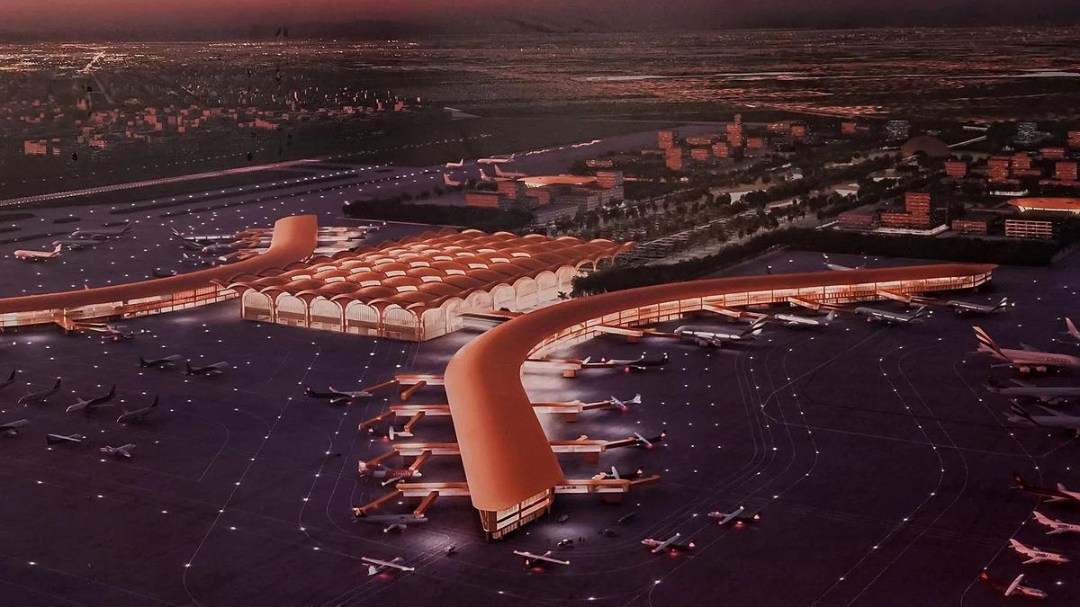 Thiết kế sân bay quốc tế mới tại Phnom Penh, Campuchia. Ảnh: Nikkei.