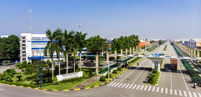 Khu công nghiệp VSIP tại Bình Dương.