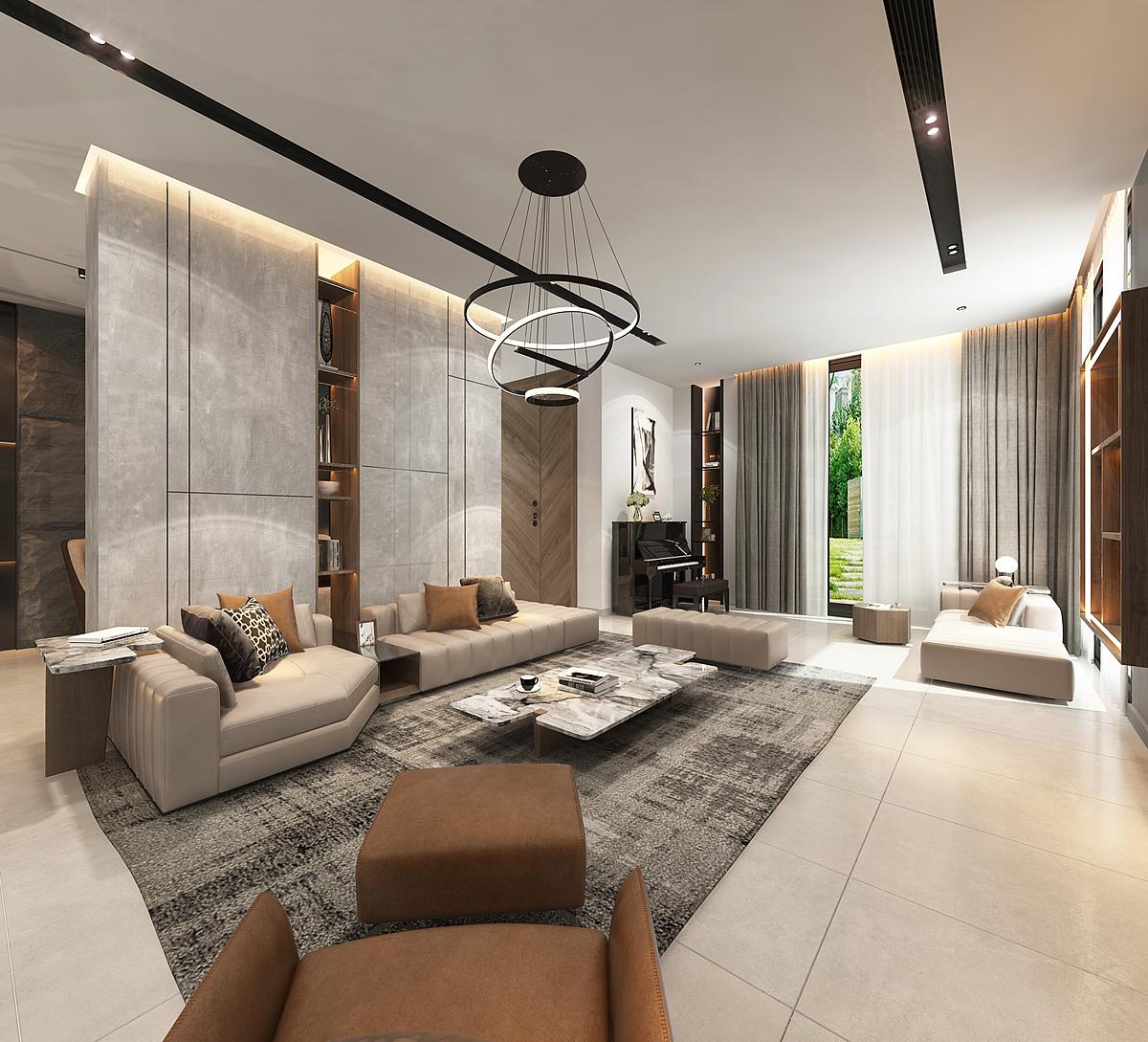 Biệt thự Aqua City Villa phong cách hiện đại sử dụng ngôn ngữ kiến trúc với hình khối mạnh mẽ, dứt khoát tạo vẻ năng động hiện đại, mang điểm nhấn cho dự án. Tông màu trắng - xám chủ đạo đồng bộ từ kiến trúc đến nội thất thể hiện nét cá tính ấn tượng cho toàn bộ không gian sống.