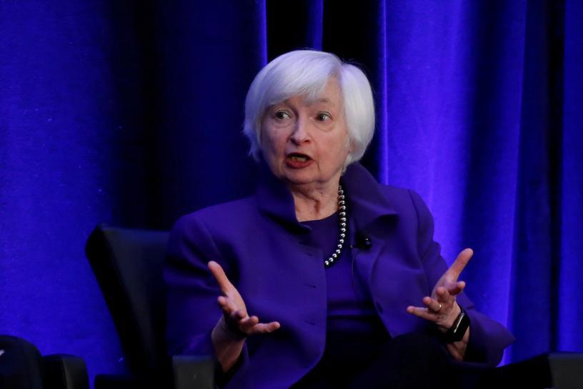 Cựu chủ tịch Fed Janet Yellen trong một sự kiện năm 2019. Ảnh: Reuters
