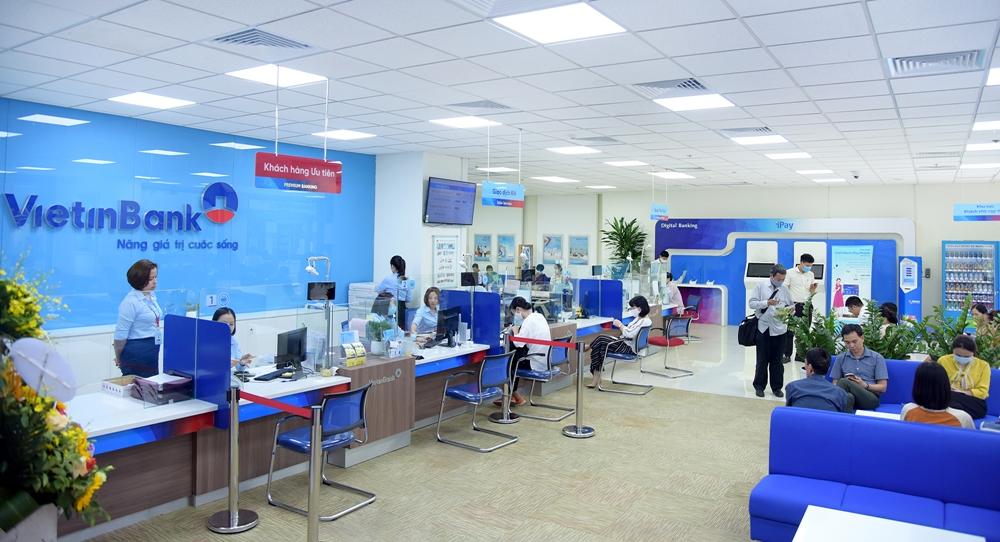 Phòng giao dịch VietinBank.