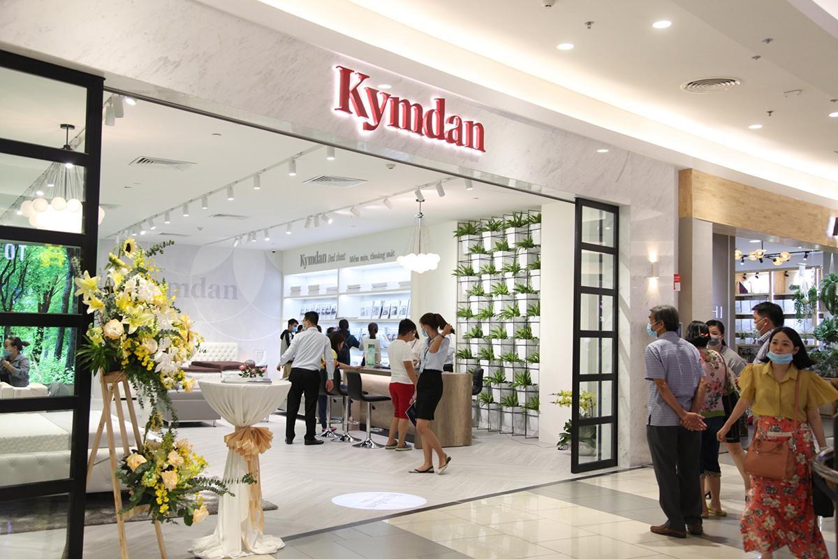 Cửa hàng cao cấp Kymdan tại tầng 2 Aeon Mall Tân Phú Celadon, mang không gian xanh mát. Ảnh: Kymdan.