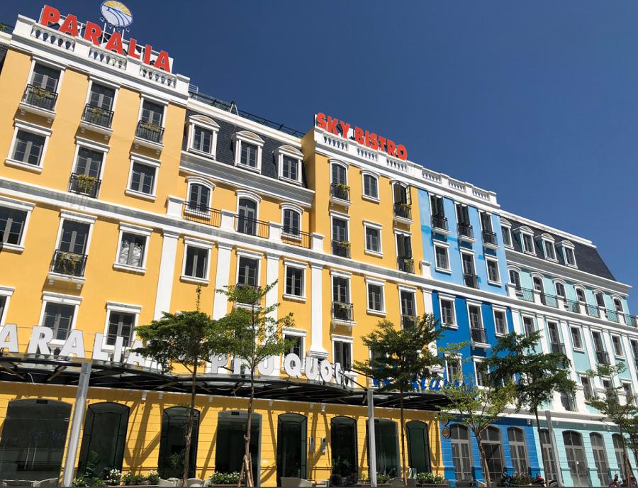 Những mini hotel tại khu phố Melodia. Ảnh: Tập đoàn Sun Group.