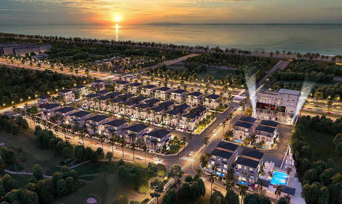 Ảnh phối cảnh y  oàn cảnh The Residence Phú Quốc trong tương lai.
