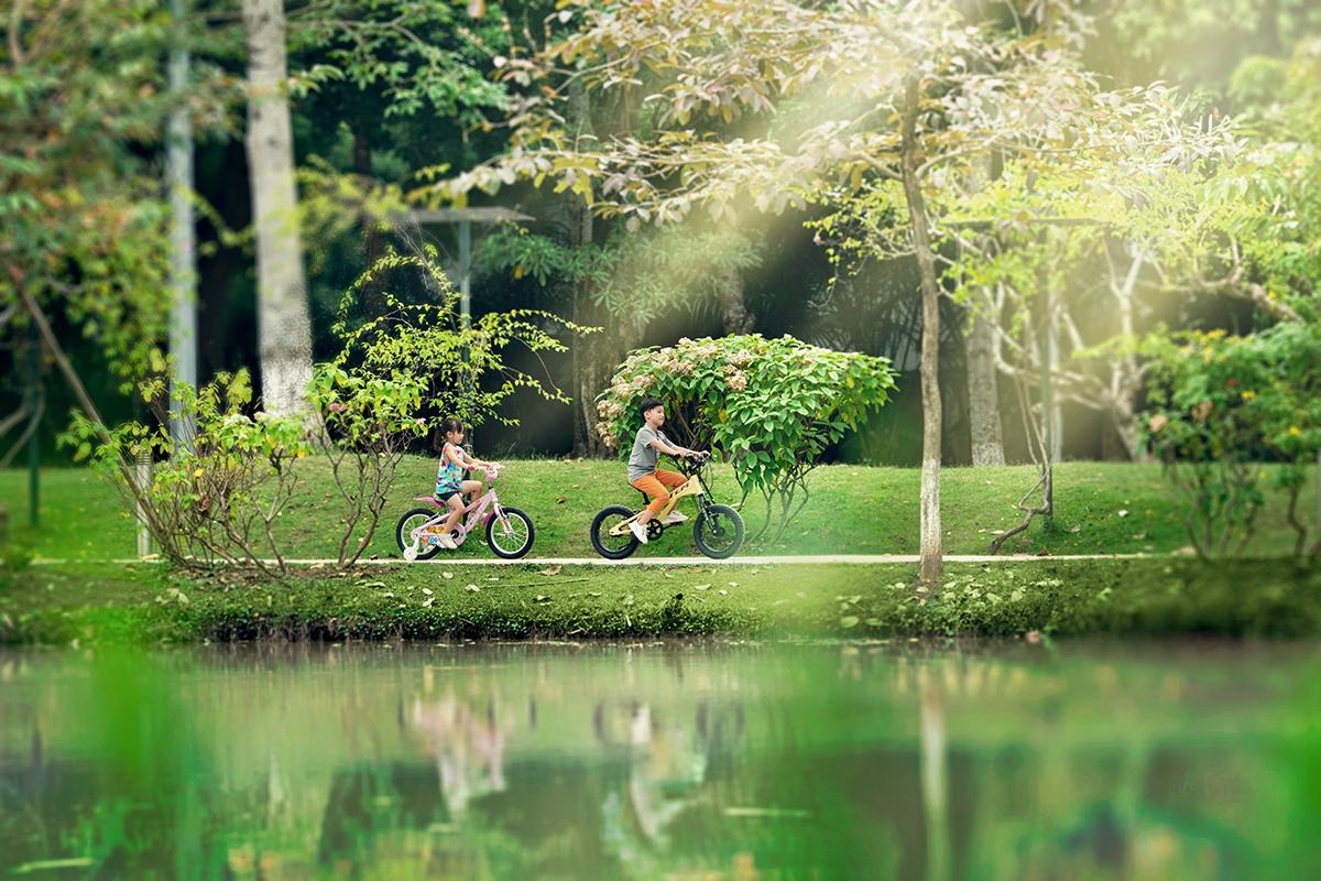 Không gian thiên nhiên tại khu đô thị Ecopark. Ảnh: Ecopark.