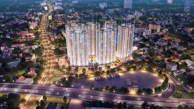 Phối cảnh tổng thể dự án Tecco Elite City Thái Nguyên.