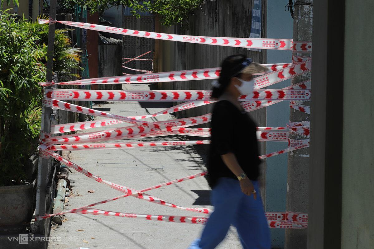 Đà Nẵng trở thành tâm dịch Covid-19, hồi tháng 7/2020. Ảnh: Nguyễn Đông.