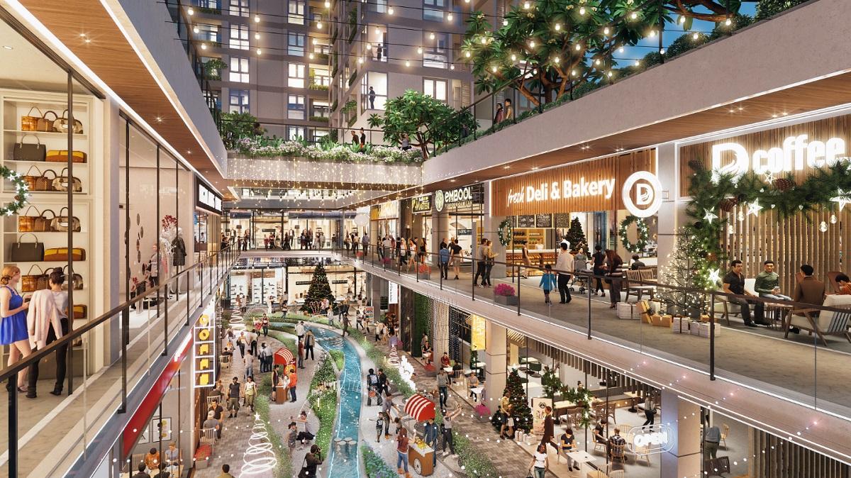 Tuyến phố chợ thương mại vào mùa hội Giáng Sinh. Ảnh phối cảnh: DHA Corporation.
