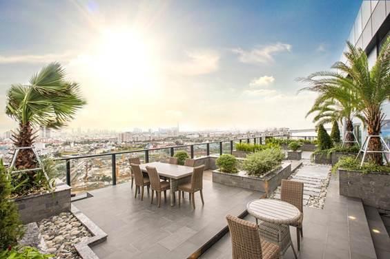 Những căn Sky Garden tại Babylon Tower sở hữu vườn xanh, mang thiên nhiên vào không gian sống.