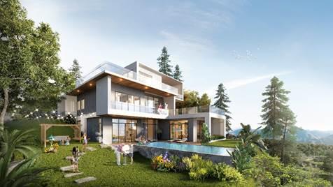 Các căn dinh thự 1000m2 tại phân khu The Azura nằm ở điểm cao nhất của dự án.