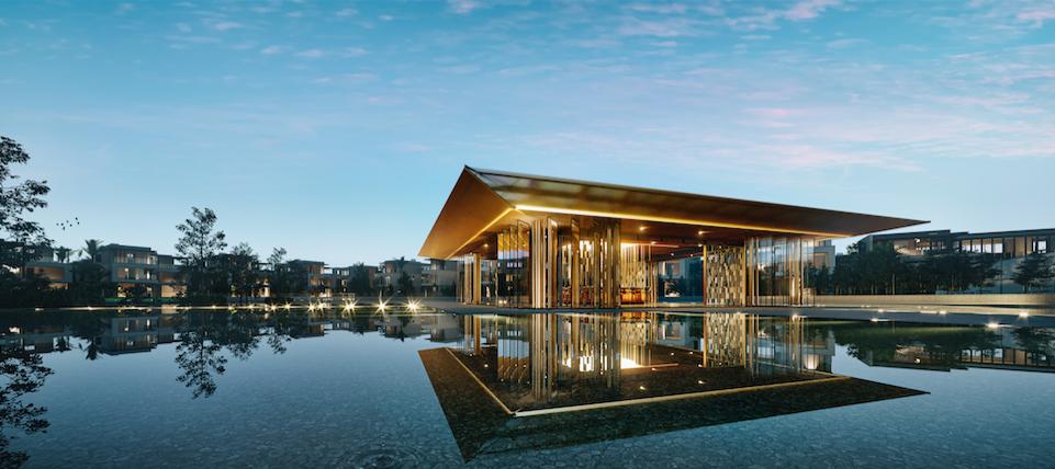 Clubhouse giữa hồ vô cực - đặc quyền mang đậm cá tính thượng lưu. Ảnh phối cảnh: SwanCity.