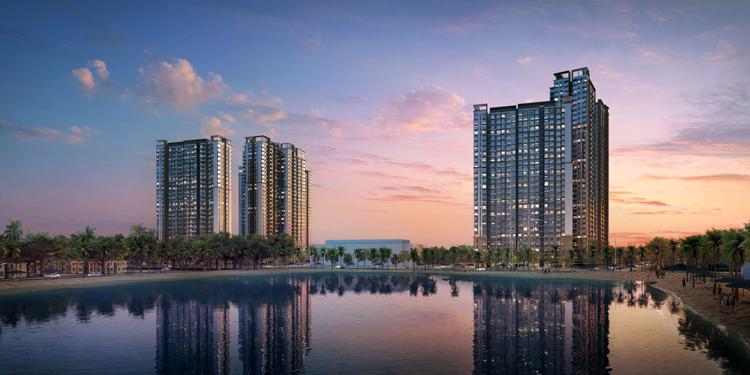 Khu căn hộ cao cấp Masteri Waterfront chiếm vị trí trung tâm đại đô thị Vinhomes Ocean Park.