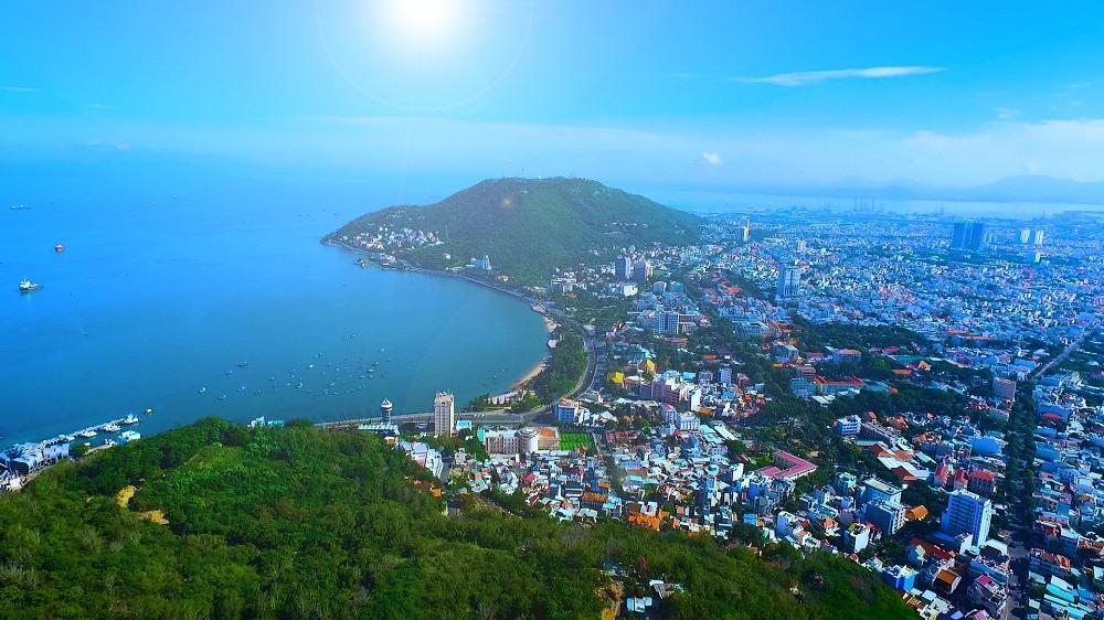 Khung cảnh thành phố Vũng Tàu nhìn từ trên cao. Ảnh: Nguyễn Ngọc Lan