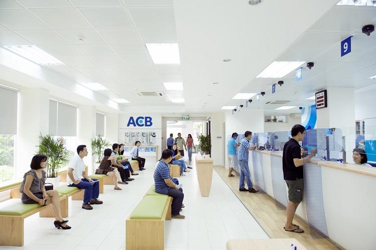 Một phòng giao dịch của ACB.