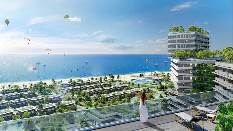 Căn hộ Wyndham Coast by Thanh Long Bay mở ra tầm nhìn hướng biển, mức giá từ 1,5 tỷ đồng. Xin ảnh ko logo