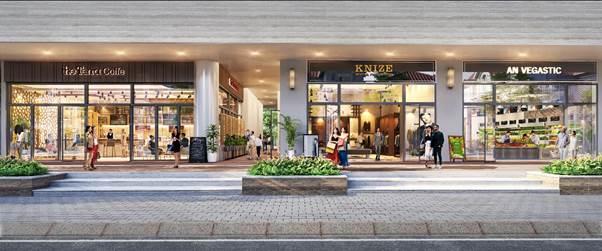 Shophouse khối đế là tâm điểm mua sắm của cư dân tại các chung cư.