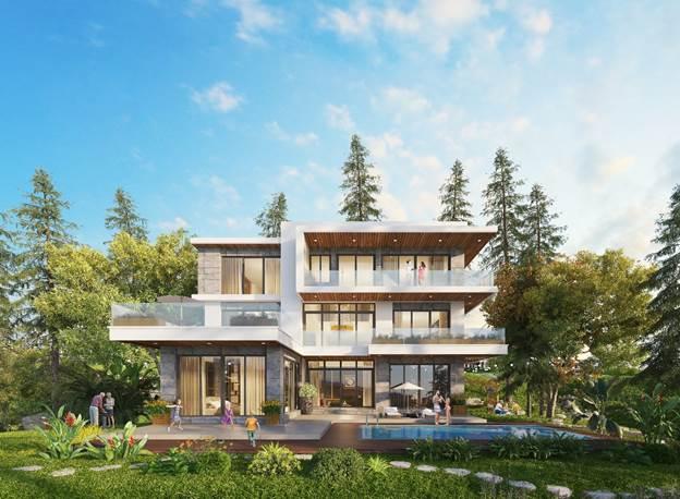 Các căn dinh thự 1.000m2 dành cho các khách hàng thượng lưu.