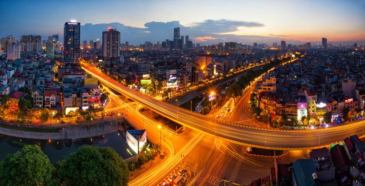 Một góc Hà Nội về đêm. Ảnh: Shutterstock.