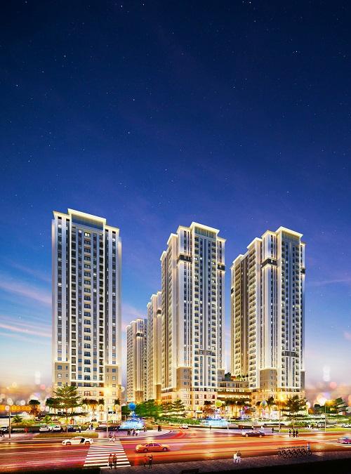 Bien Hoa Universe Complex cung cấp gần 2.000 căn hộ hướng đến phục vụ chuyên gia, người lao động và trí thức trẻ tại phía Đông Sài Gòn. Ảnh phối cảnh: Hưng Thịnh Land.
