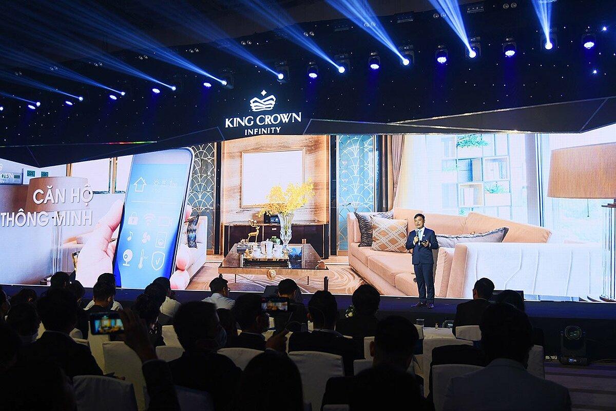Ông Nguyễn Khánh Duy - Giám đốc dự án King Crown Infinity chia sẻ những thông tin giá trị về dự án tại sự kiện